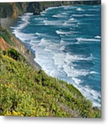 Pacific Coast Shoreline I Metal Print by Steven Ainsworth