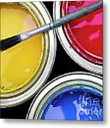 Paint Cans Metal Print
