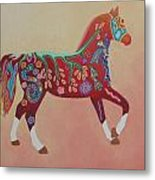 Painted Horse B Metal Print