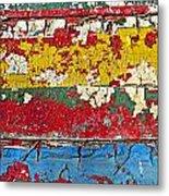 Painting Peeling Wall Metal Print by Garry Gay