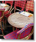Paris Cafe Metal Print by Tony Grider
