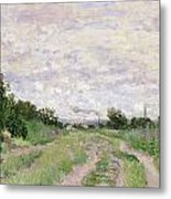Path Through The Vines At Argenteuil Metal Print