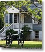 Peers House And Cannon Appomattox Court House Virginia Metal Print