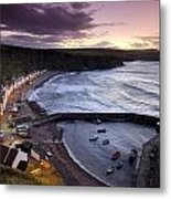 Pennans Cottages And Metal Print