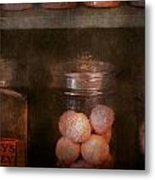 Pharmacy - Kidney Pills And Suppositories Metal Print by Mike Savad