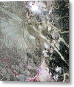 Phosphate Mines, Jordan Metal Print by Nasa