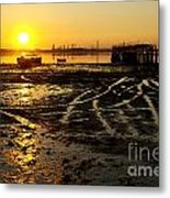 Pier At Sunset Metal Print by Carlos Caetano