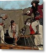 Pirates Of Peril Metal Print by DigiArt Diaries by Vicky B Fuller
