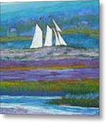 Pirates On The Lahave River Metal Print by Rae  Smith PSC