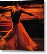 Portrait Of A Ballet Dancer Bathed Metal Print