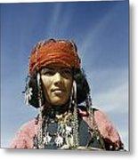 Portrait Of A Nomadic North African Metal Print by Maynard Owen Williams