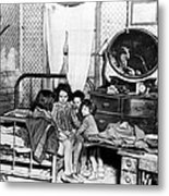 Poverty Stricken Children In A Rural Metal Print