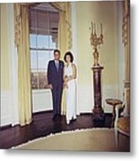 President And Jacqueline Kennedy Metal Print