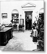 President John Kennedy Television Metal Print