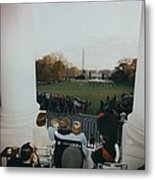 President Kennedy And His Family Watch Metal Print
