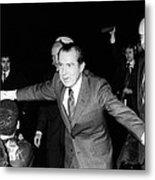 President Richard Nixon Extends Himself Metal Print