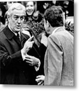 President Richard Nixon Listens To An Metal Print