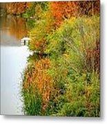 Prosser Autumn Docks Metal Print by Carol Groenen
