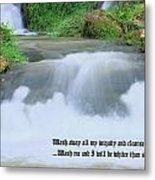 Psalm 51 2 Metal Print by Kristin Elmquist