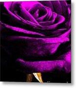 Purple Velvet Rose Metal Print by EGiclee Digital Prints