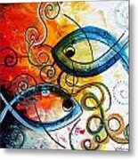 Purposeful Ichthus By Two Metal Print by J Vincent Scarpace