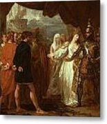 Queen Philippa Interceding For The Lives Of The Burghers Of Calais Metal Print
