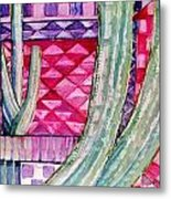 Quilted Sunset Metal Print by Regina Ammerman