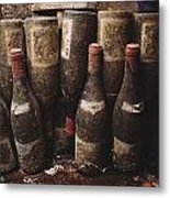Red Wine Bottles, Covered With Mold Metal Print by James L. Stanfield