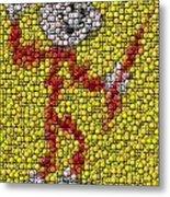 Reddy Kilowatt Bottle Cap Mosaic Metal Print