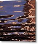 Reflection Patterns In The Waves Metal Print