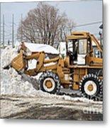 Removing Snow Metal Print by Ted Kinsman