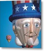 Republican Balloon Flys At Albuquerque Metal Print by Carl Purcell