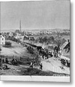 Retreat Of British From Concord Metal Print