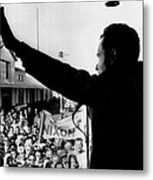 Richard Nixon Campaigning For Governor Metal Print
