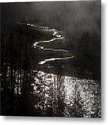 River Of Silver Metal Print