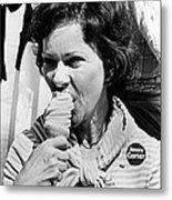 Rosalynn Carter Enjoys An Ice Cream Metal Print by Everett