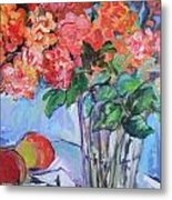 Roses And Peaches Metal Print