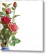 Roses Bouquet Metal Print by Carlos Caetano