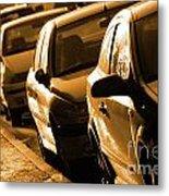Row Of Cars Metal Print by Carlos Caetano