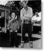 Roy Dusty Rogers Jr., And His Father Metal Print