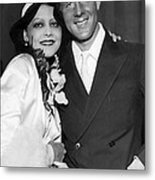 Rudy Vallee Right, And His Wife, Fay Metal Print