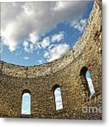 Ruin Wall With Windows Of An Old Church  Metal Print by Sandra Cunningham