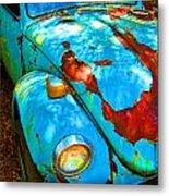 Rusty Blue Metal Print by Kendra Longfellow