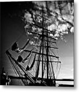 Sails In The Sunset Metal Print by Hakon Soreide