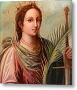 Saint Catherine Of Alexandria Painting Metal Print