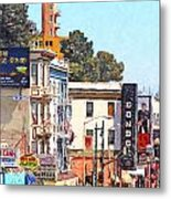 San Francisco Broadway Metal Print by Wingsdomain Art and Photography