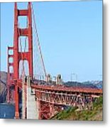 San Francisco Golden Gate Bridge . 7d8157 Metal Print by Wingsdomain Art and Photography