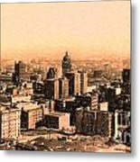 San Francisco Skyline 1909 Showing South Of Market Street Metal Print