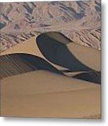 Sand Dunes In Death Valley Metal Print