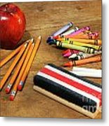 School Supplies  Metal Print